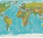 251px-Worldmap_LandAndPolitical By CC, via Wikipedia