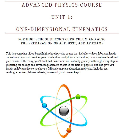 New HS Physics Assessment Packet Download