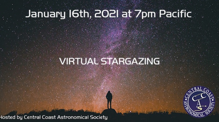1/16 Stargazing at 7pm Pacific