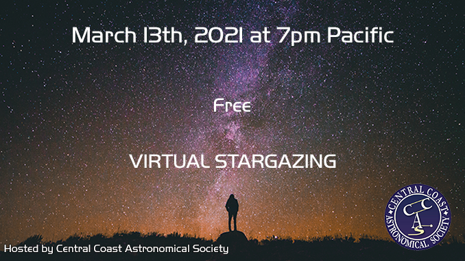 3/13 Stargazing at 7pm Pacific