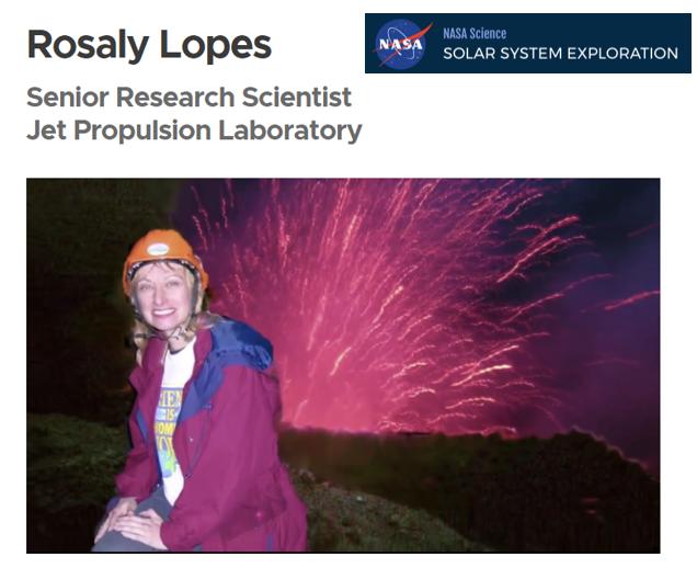 Volcano Expert Dr. Rosaly Lopes from NASA JPL on June 18!